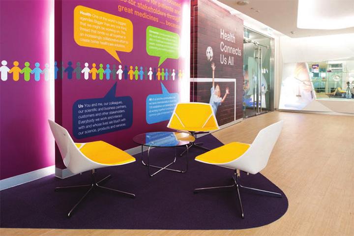 Astra zeneca – Tràn ngập màu sắc trong thiết kế văn phòng làm việc 4