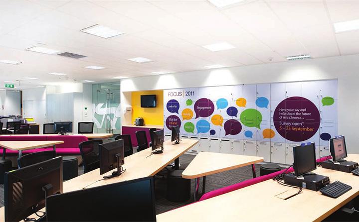 Astra zeneca – Tràn ngập màu sắc trong thiết kế văn phòng làm việc 12