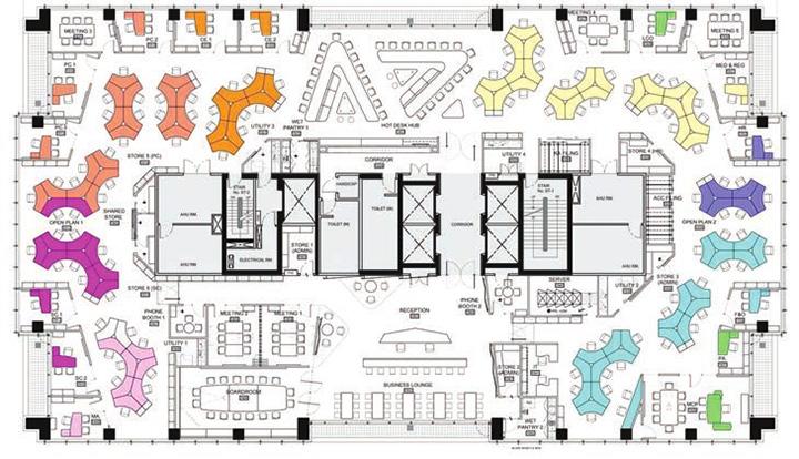 Astra zeneca – Tràn ngập màu sắc trong thiết kế văn phòng làm việc 14