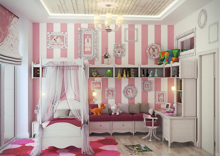 Một số bí quyết trang trí nội thất phòng ngủ đáng yêu dành cho bé gái 2