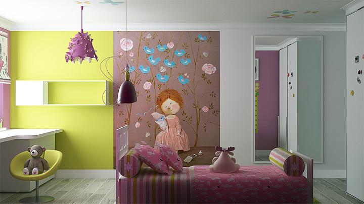 Một số bí quyết trang trí nội thất phòng ngủ đáng yêu dành cho bé gái 9