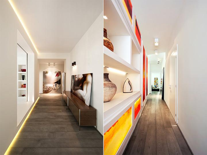 Sử dụng tông màu trắng đỏ bí ẩn trong thiết kế nội thất căn hộ 7