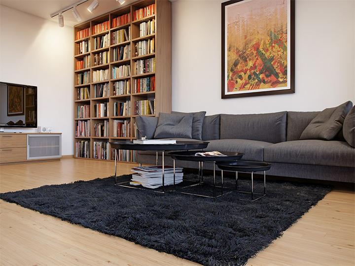 Trang trí nhà theo tông màu trắng kết hợp chất liệu gỗ chủ đạo 2