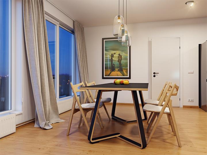 Trang trí nhà theo tông màu trắng kết hợp chất liệu gỗ chủ đạo 3
