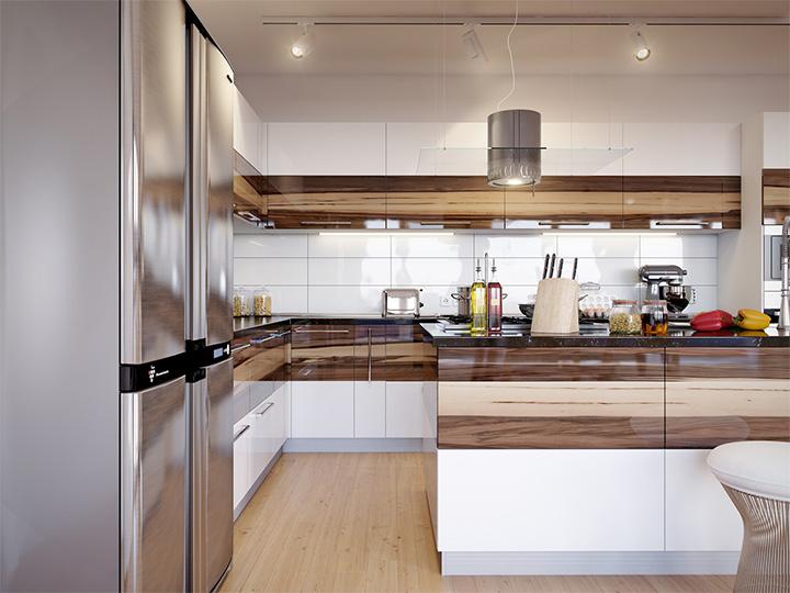 Trang trí nhà theo tông màu trắng kết hợp chất liệu gỗ chủ đạo 7