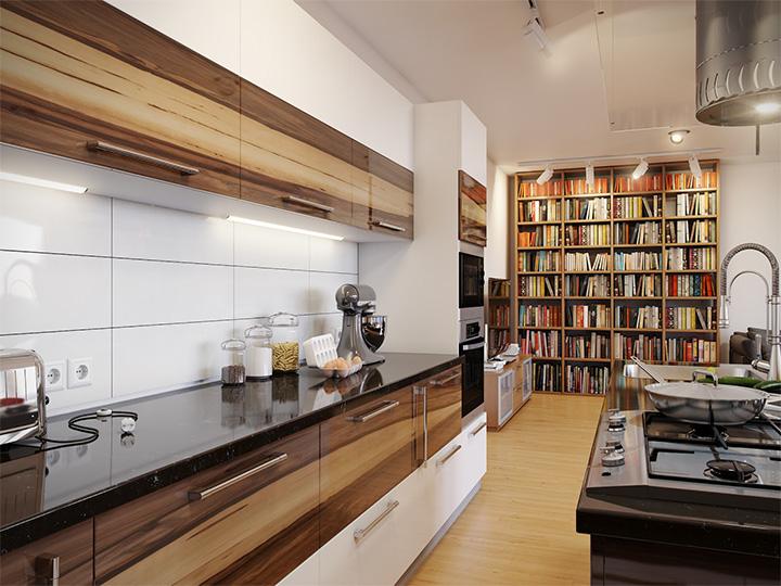 Trang trí nhà theo tông màu trắng kết hợp chất liệu gỗ chủ đạo 8