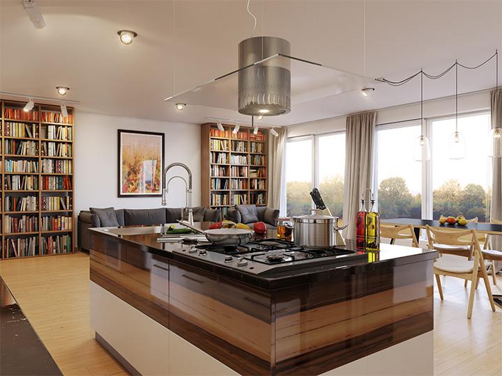 Trang trí nhà theo tông màu trắng kết hợp chất liệu gỗ chủ đạo 9