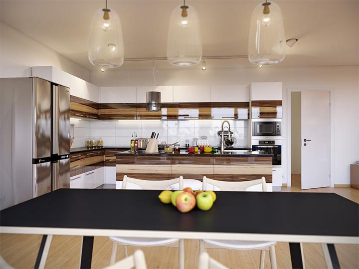 Trang trí nhà theo tông màu trắng kết hợp chất liệu gỗ chủ đạo 11