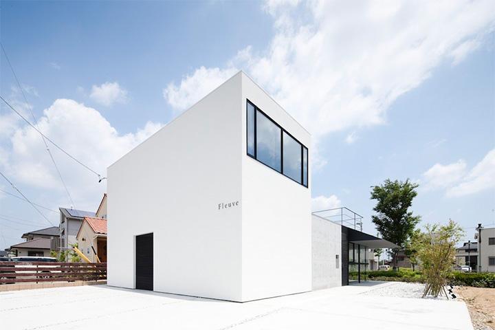 Fleuve - Thiết kế nhà ở sân vườn kết hợp salon tóc đẹp 5
