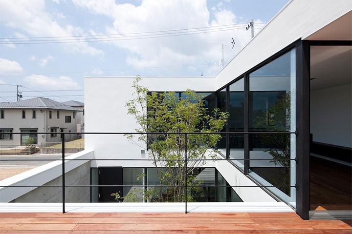 Không gian tòa nhà nhìn từ góc độ bên ngoài