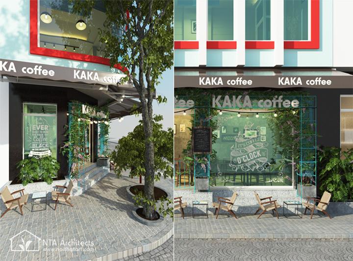Kaka Coffee - Thiết kế quán cafe phong cách mộc nơi góc phố 3