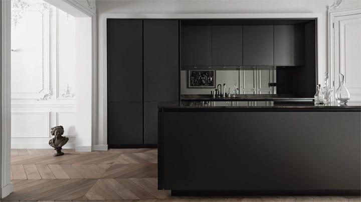 Gỗ là chất liệu đặc trưng khi thiết kế đảo bếp cổ điển