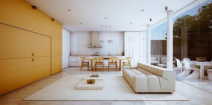 Thiết kế phòng khách kết hợp phòng ăn tạo nên không gian tuyệt đẹp 1