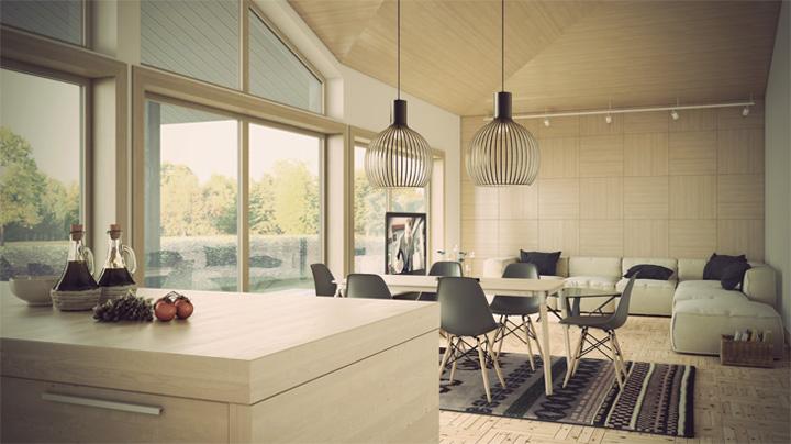 Thiết kế phòng khách kết hợp phòng ăn tạo nên không gian tuyệt đẹp 4