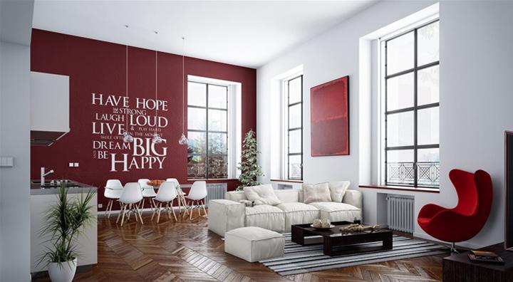Mẫu thiết kế phòng khách hiện đại mang đến cảm giác thư thái 4