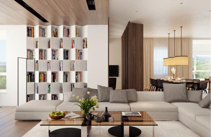 Mẫu thiết kế phòng khách hiện đại mang đến cảm giác thư thái 8