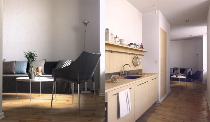 5 phong cách thiết kế căn hộ nhỏ có diện tích dưới 40 m2 7