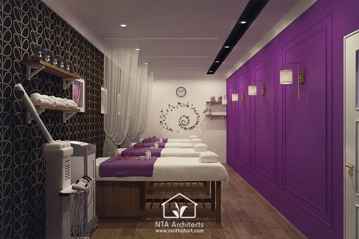 Cuốn hút với thiết kế nội thất spa tông màu tím lavender 5