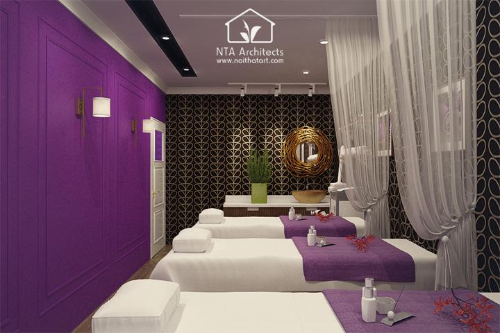 Cuốn hút với thiết kế nội thất spa tông màu tím lavender 6