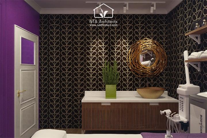 Cuốn hút với thiết kế nội thất spa tông màu tím lavender 7