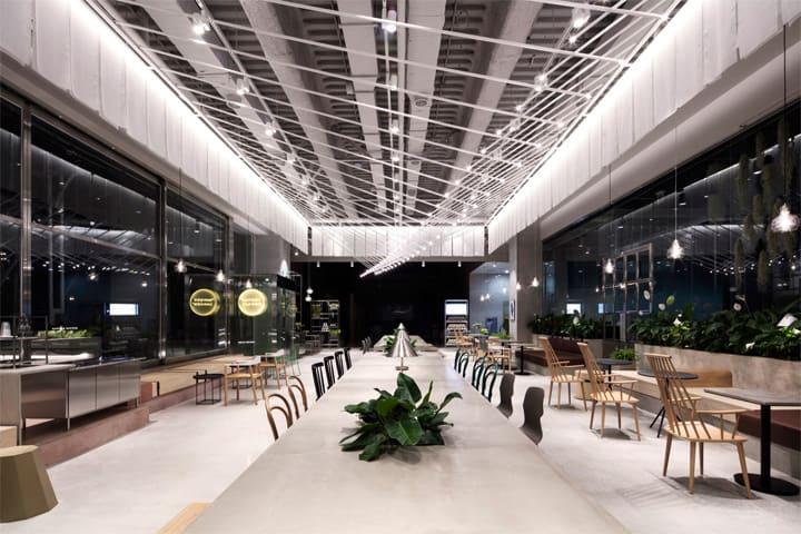 Quán cafe 1 tầng hiện đại của tập đoàn nhân sâm Hàn Quốc 1