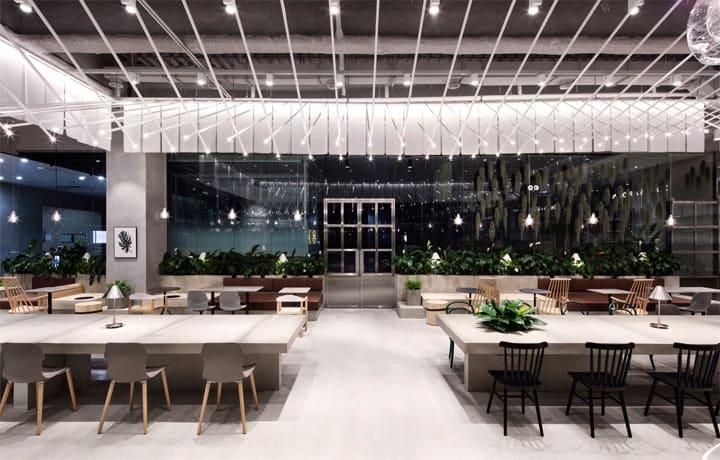 Quán cafe 1 tầng hiện đại của tập đoàn nhân sâm Hàn Quốc 7