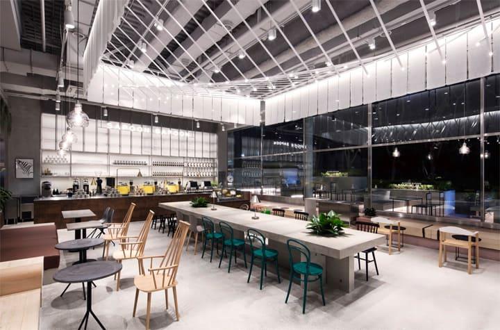 Quán cafe 1 tầng hiện đại của tập đoàn nhân sâm Hàn Quốc 8