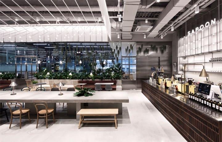 Quán cafe 1 tầng hiện đại của tập đoàn nhân sâm Hàn Quốc 13