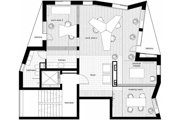Cải tạo căn hộ thành văn phòng làm việc nhỏ xinh ở Bulgaria 12