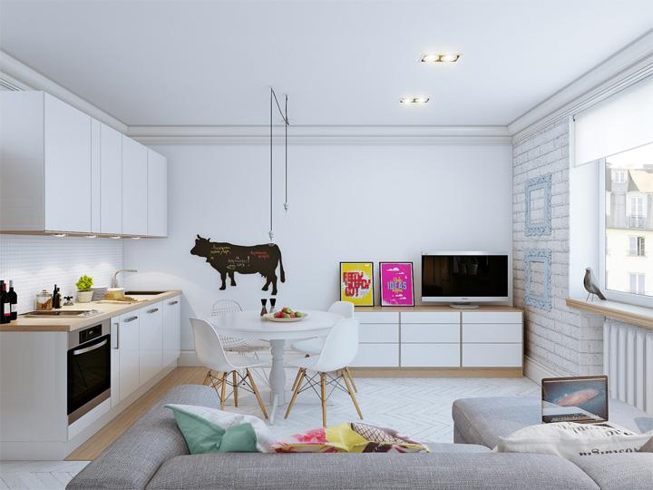 4 mẫu thiết kế nội thất căn hộ nhỏ xinh theo xu hướng mới 1