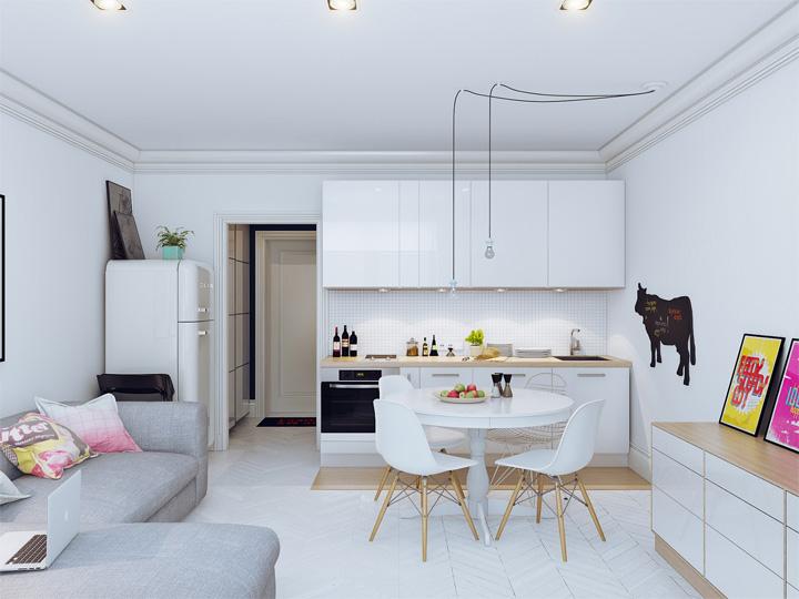 4 mẫu thiết kế nội thất căn hộ nhỏ xinh theo xu hướng mới 2