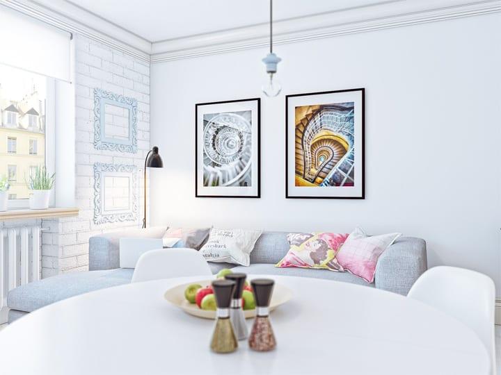 4 mẫu thiết kế nội thất căn hộ nhỏ xinh theo xu hướng mới 3