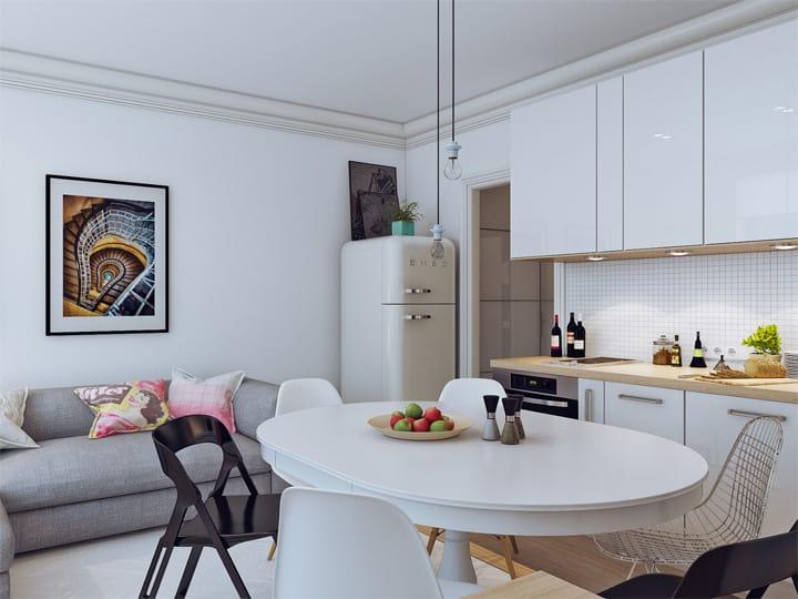 4 mẫu thiết kế nội thất căn hộ nhỏ xinh theo xu hướng mới 4