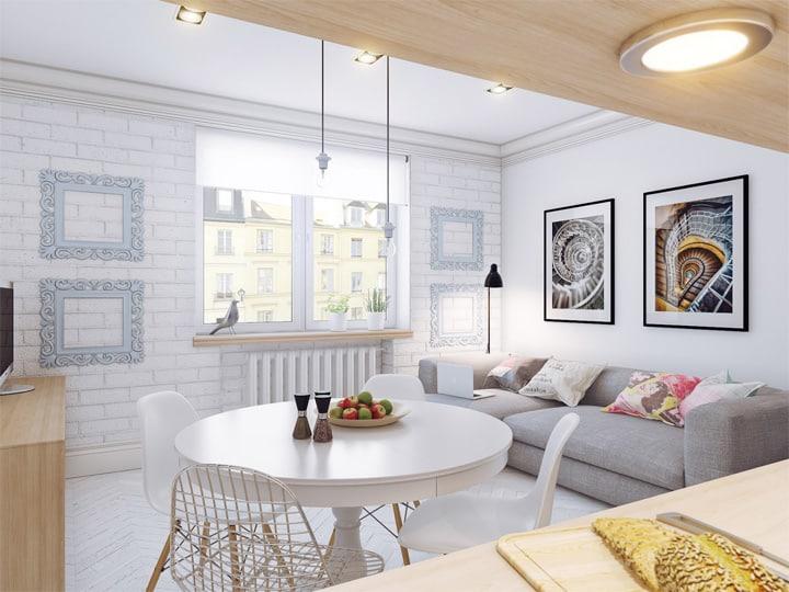 4 mẫu thiết kế nội thất căn hộ nhỏ xinh theo xu hướng mới 6