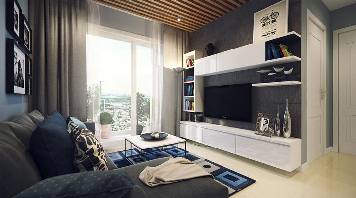 4 mẫu thiết kế nội thất căn hộ nhỏ xinh theo xu hướng mới 13