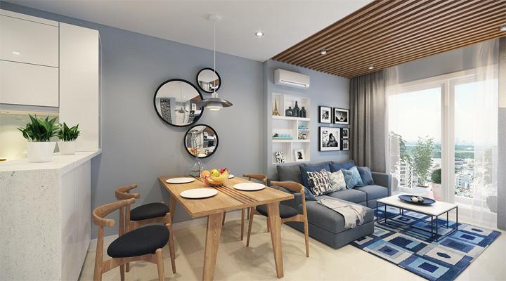 4 mẫu thiết kế nội thất căn hộ nhỏ xinh theo xu hướng mới 14