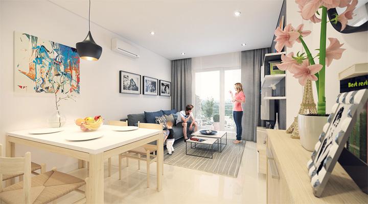 4 mẫu thiết kế nội thất căn hộ nhỏ xinh theo xu hướng mới 16