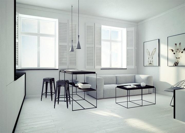 4 mẫu thiết kế nội thất căn hộ nhỏ xinh theo xu hướng mới 20