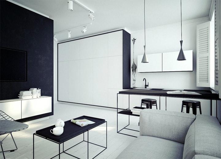 4 mẫu thiết kế nội thất căn hộ nhỏ xinh theo xu hướng mới 21