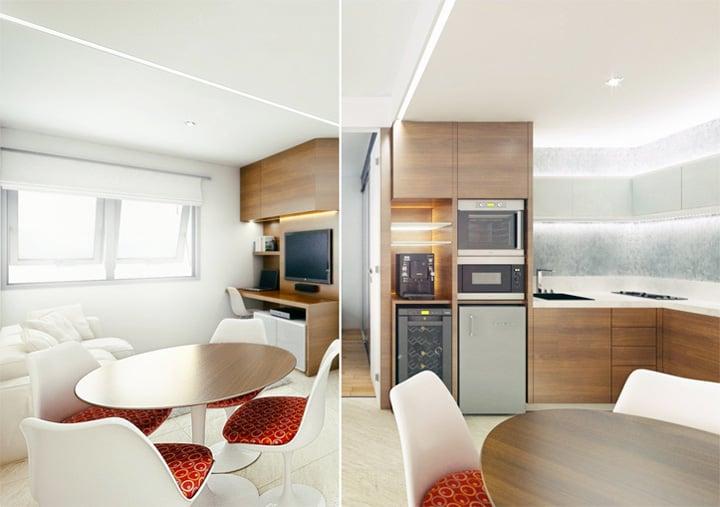 4 mẫu thiết kế nội thất căn hộ nhỏ xinh theo xu hướng mới 23