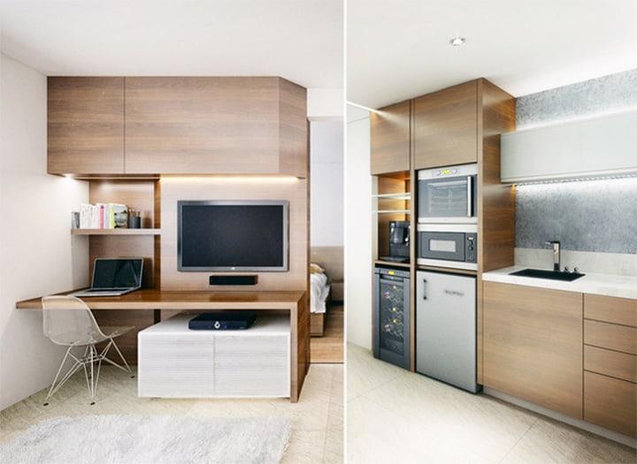 4 mẫu thiết kế nội thất căn hộ nhỏ xinh theo xu hướng mới 24
