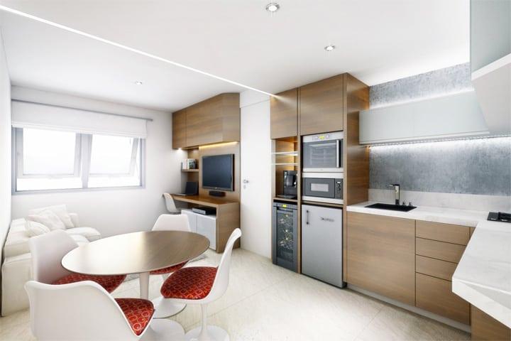 4 mẫu thiết kế nội thất căn hộ nhỏ xinh theo xu hướng mới 25