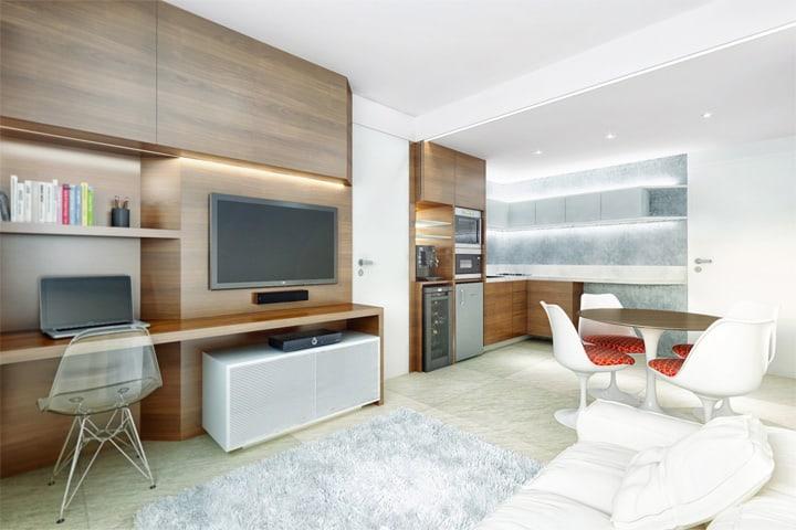4 mẫu thiết kế nội thất căn hộ nhỏ xinh theo xu hướng mới 26