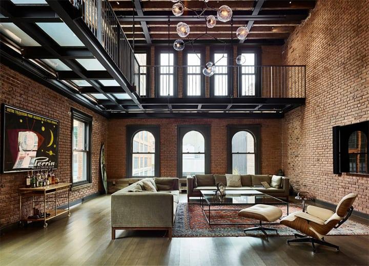 Thiết kế nội thất penthouse mang vẻ đẹp hoài cổ ở New York 1