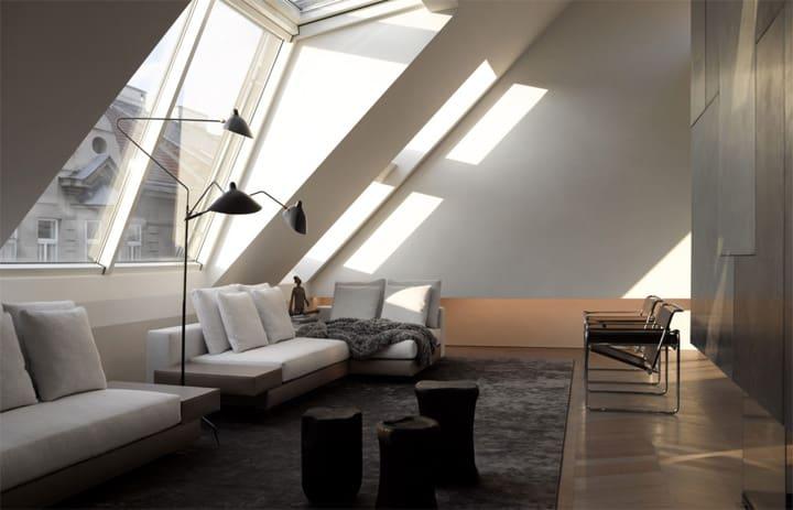 Căn hộ tông màu trắng đen và xám với thiết kế đơn giản sang trọng 5
