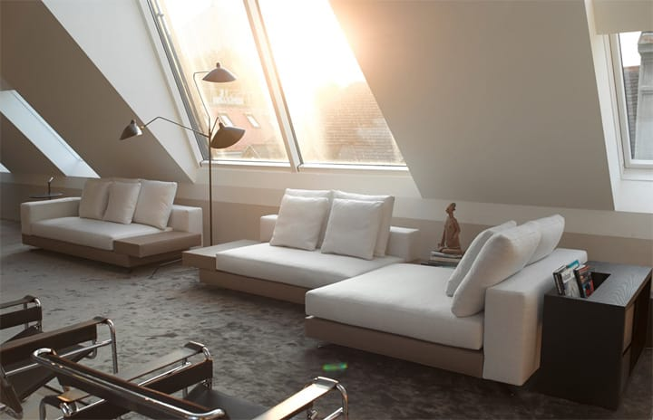 Căn hộ tông màu trắng đen và xám với thiết kế đơn giản sang trọng 6