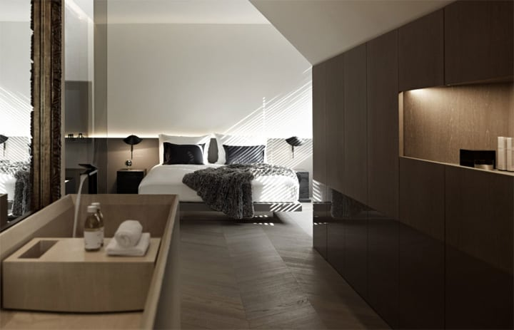 Căn hộ tông màu trắng đen và xám với thiết kế đơn giản sang trọng 9