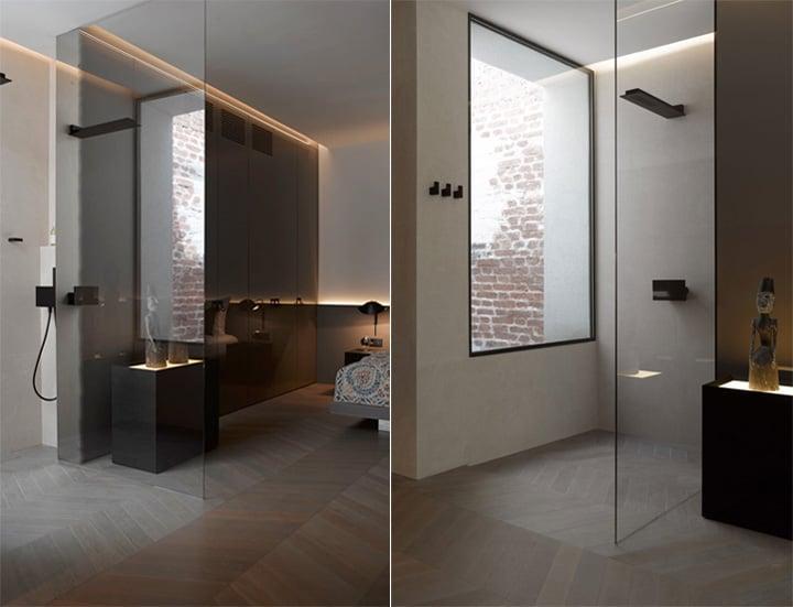 Căn hộ tông màu trắng đen và xám với thiết kế đơn giản sang trọng 10