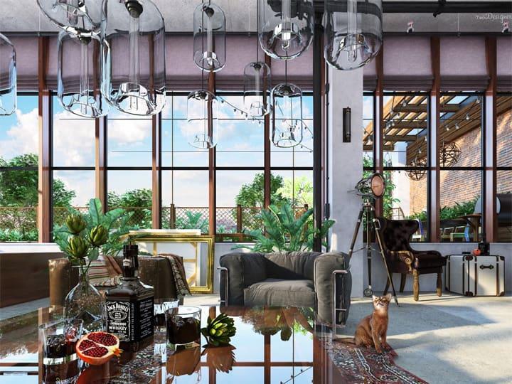 Mẫu thiết kế căn hộ đẹp và sáng tạo từ những nghệ sĩ phong cách 14