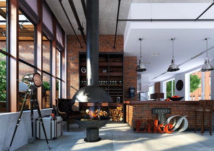 Mẫu thiết kế căn hộ đẹp và sáng tạo từ những nghệ sĩ phong cách 15